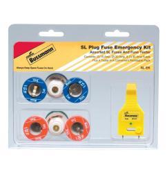 cooper bussmann sl style plug fuse emergency kit [ 1000 x 1000 Pixel ]