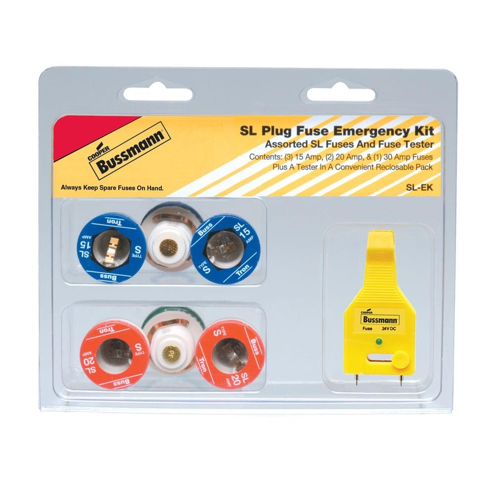 hight resolution of cooper bussmann sl style plug fuse emergency kit