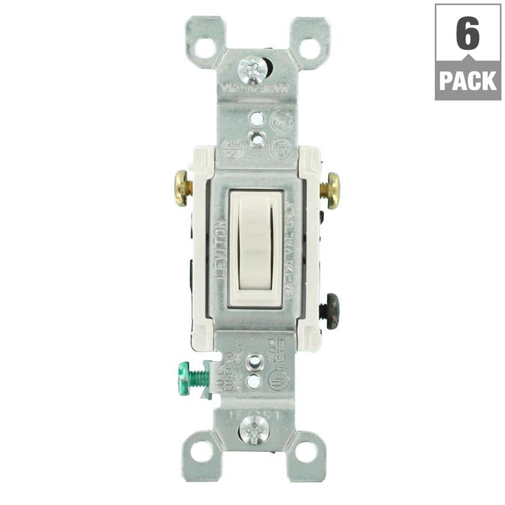 medium resolution of leviton 15 amp 3 way toggle switch white 6 pack