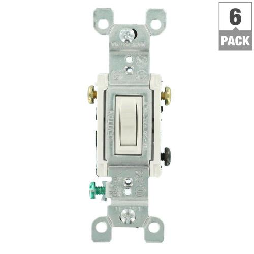 small resolution of leviton 15 amp 3 way toggle switch white 6 pack