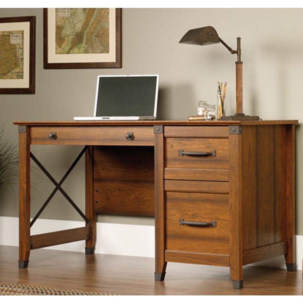 SAUDER Carson WASHINGTON CHERRY Desk412920  The Home Depot
