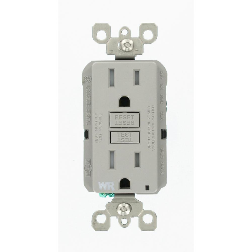 hight resolution of leviton 15 amp 125 volt duplex self test tamper resistant weather leviton gfci outlet wiring diagram emprendedorlink