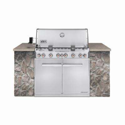 drop in grills for outdoor kitchens stainless steel kitchen cabinets 6 built the home depot summit s 660 burner natural gas grill