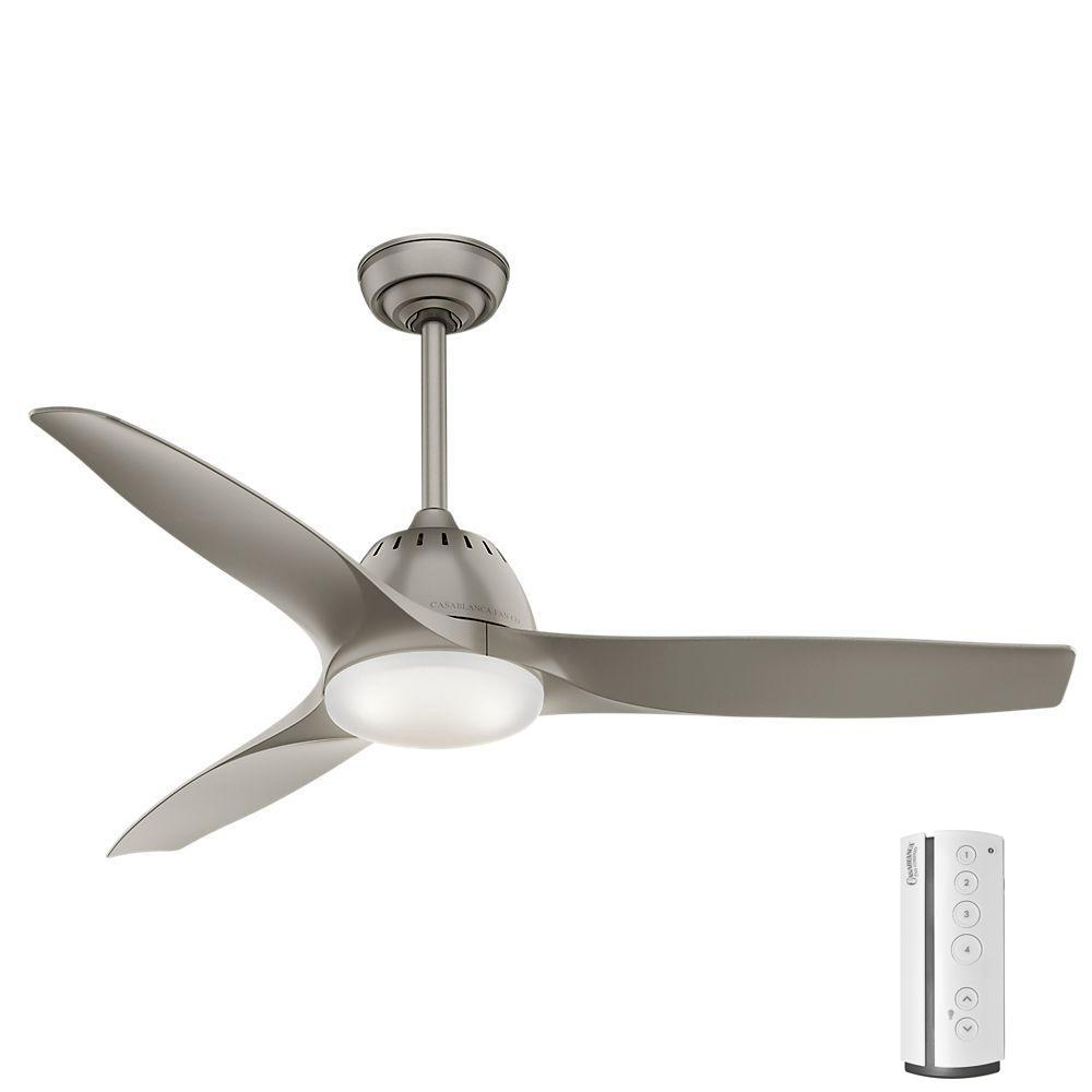 Casablanca Wisp 52 in. LED Indoor Painted Pewter Ceiling
