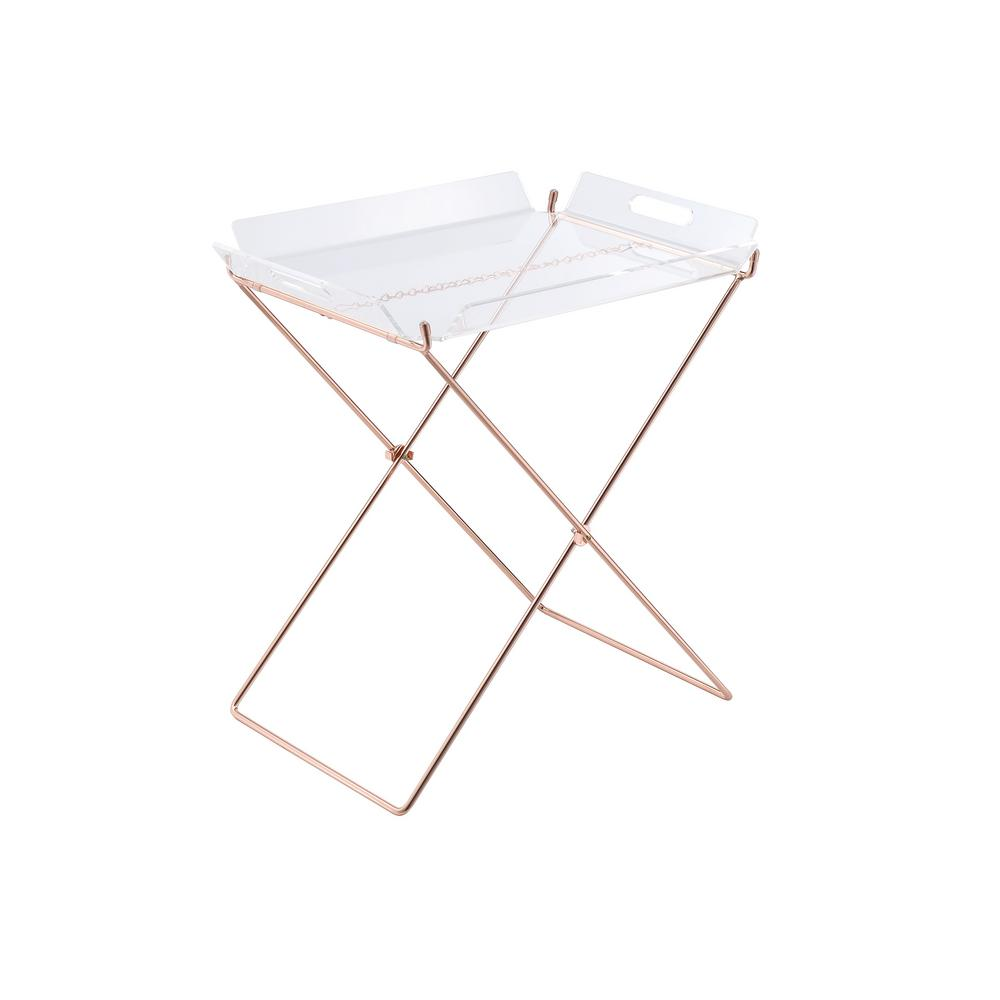 ACME Furniture Cercie Tray Table in Clear Acrylic and