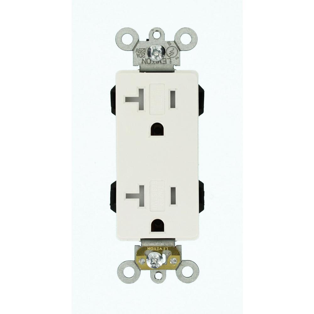 medium resolution of leviton decora plus 20 amp lev lok modular wiring device commercial grade duplex outlet