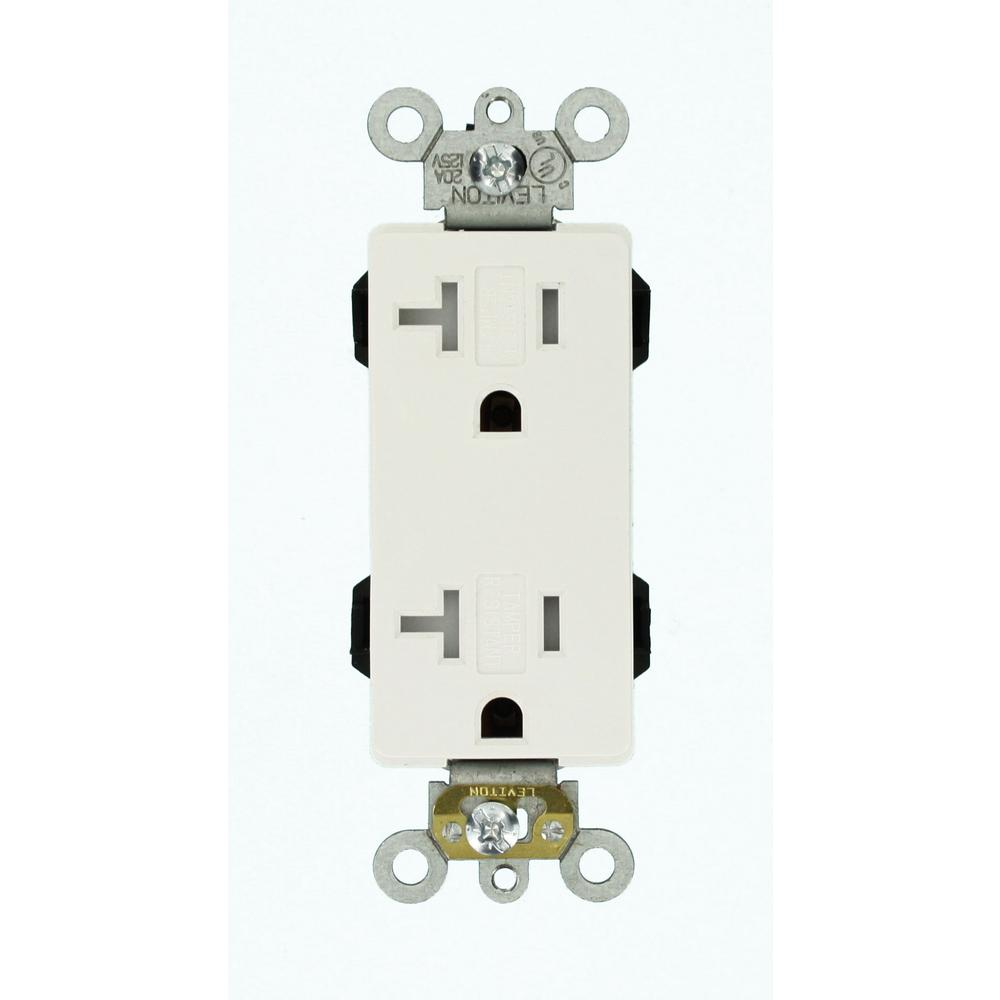 hight resolution of leviton decora plus 20 amp lev lok modular wiring device commercial grade duplex outlet