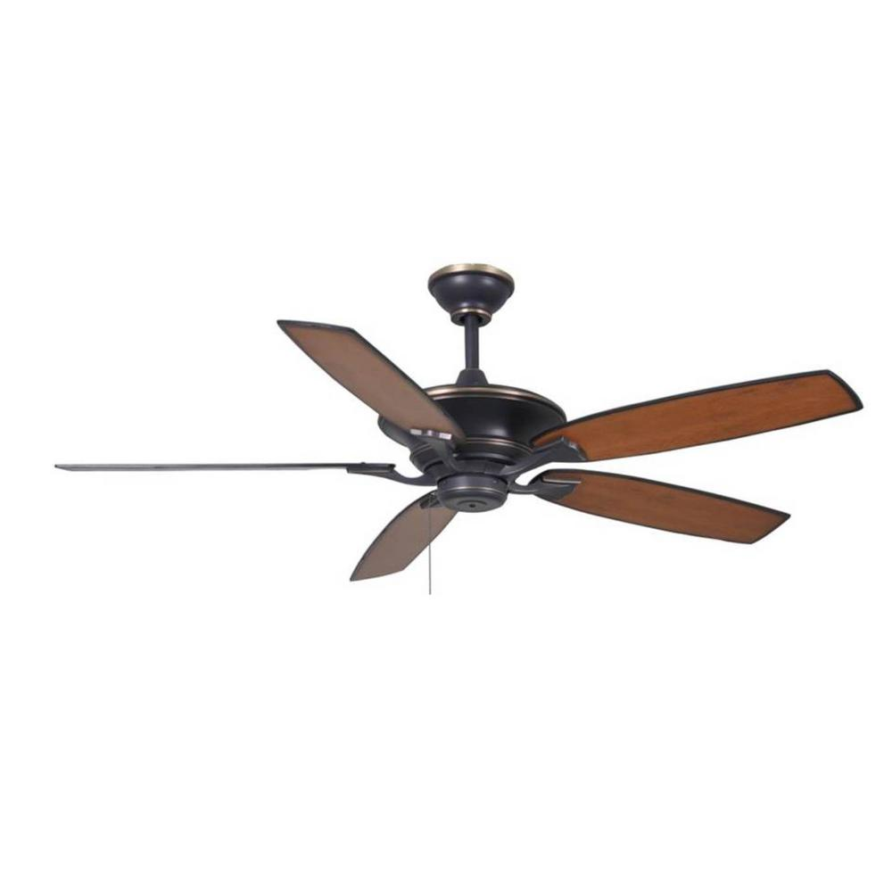 hight resolution of hampton bay ashburton 60 in indoor tarnished bronze ceiling fan ceiling fan and track light on wiring ceiling fan without light kit