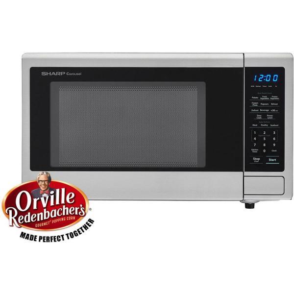 Sharp Carousel 1.1 Cu. Ft. 1000-watt Countertop Microwave Oven In Stainless Steel Ista 6