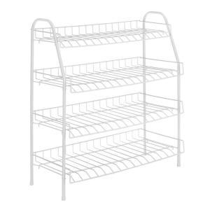 Whitmor White Wire Collection 25 in. x 27.88 in. 4-Tier