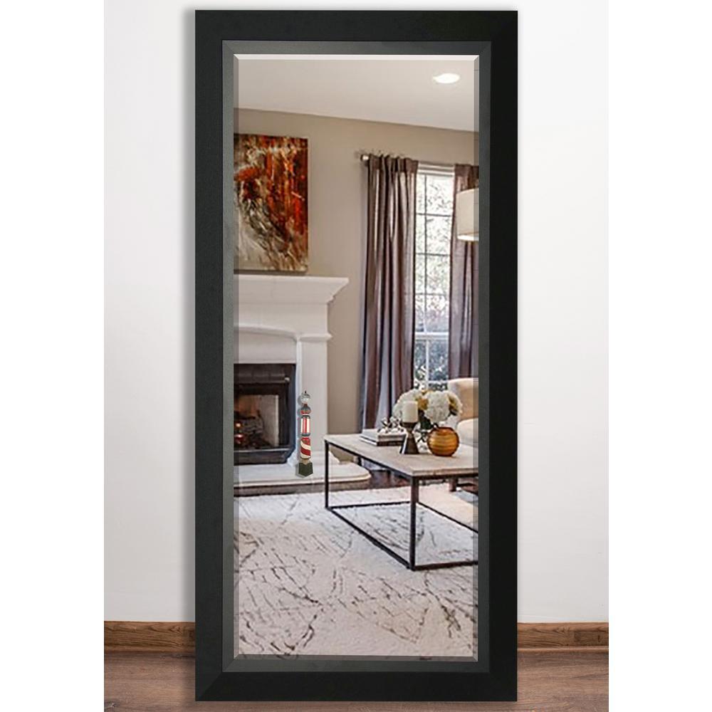 Martha Stewart Living Champlain 66 In X 32 In Black Coffee Framed Leaner Mirror 71906 The