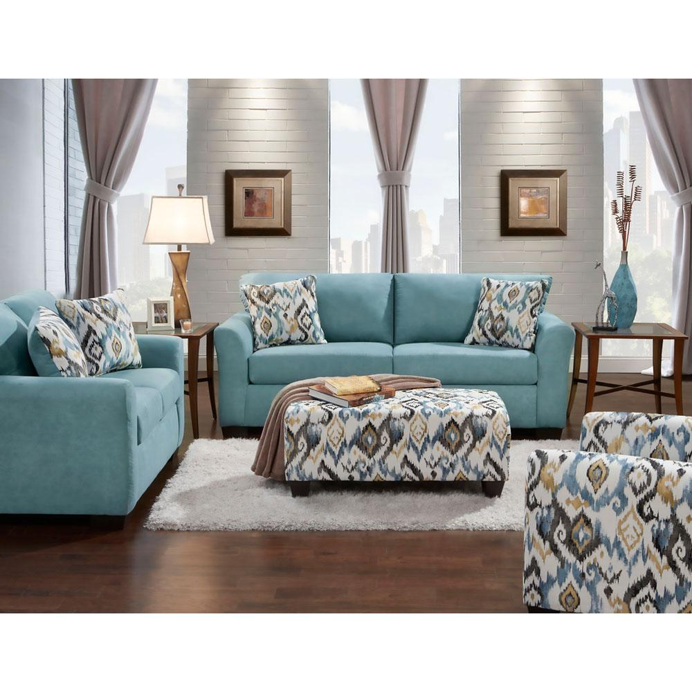 Carlisle 2Piece Teal Sofa and Loveseat Set98513A2PCTEAL
