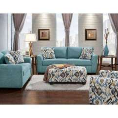 Blue Living Room Sets French Provincial Set Classic Pick Up Today Furniture Carlisle 2 Piece Teal Sofa And Loveseat