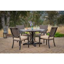 Foremost Casual Mulberry 5-piece Wicker Outdoor