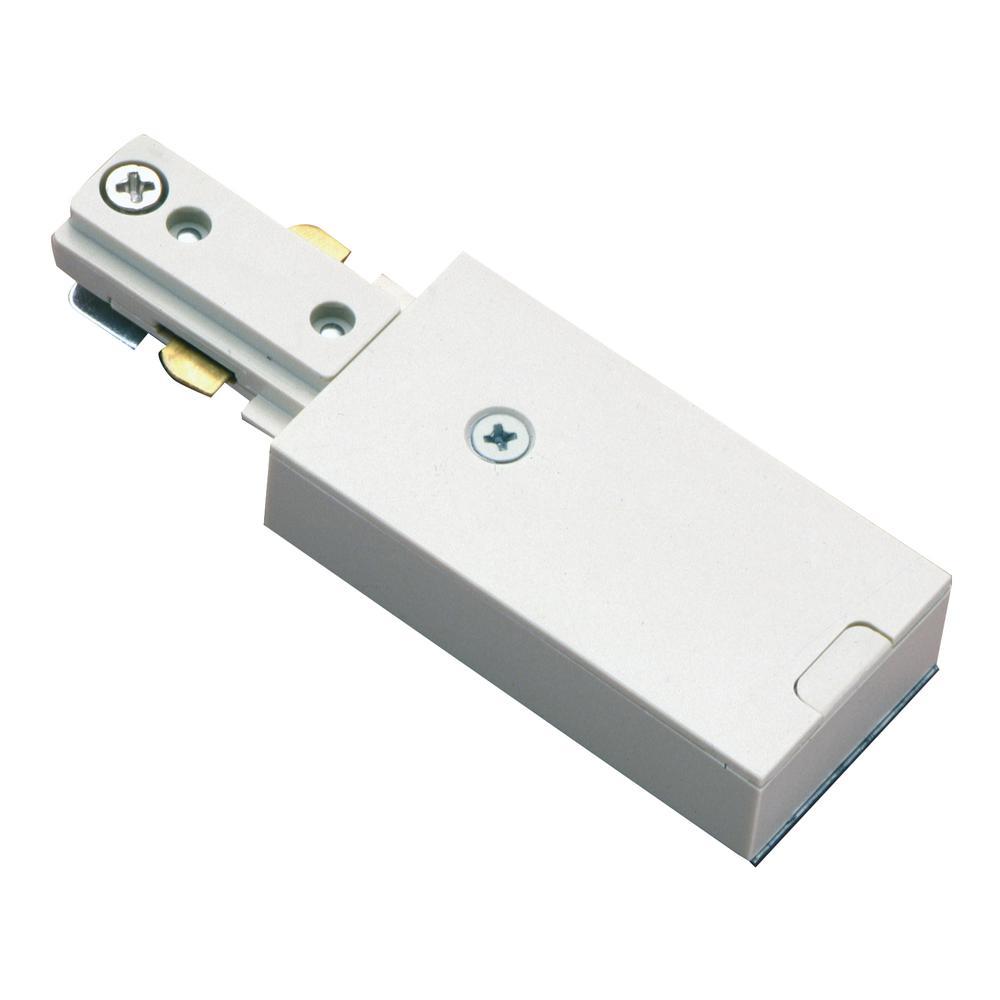 Halo White Live End Single Circuit Track Lighting