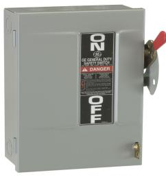 ge 30 amp 240 volt fusible indoor general duty safety switch [ 1000 x 1000 Pixel ]
