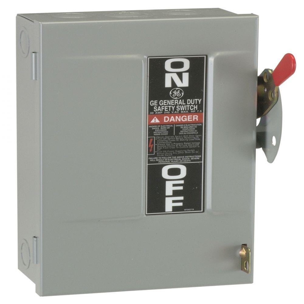 medium resolution of ge 30 amp 240 volt fusible indoor general duty safety switch