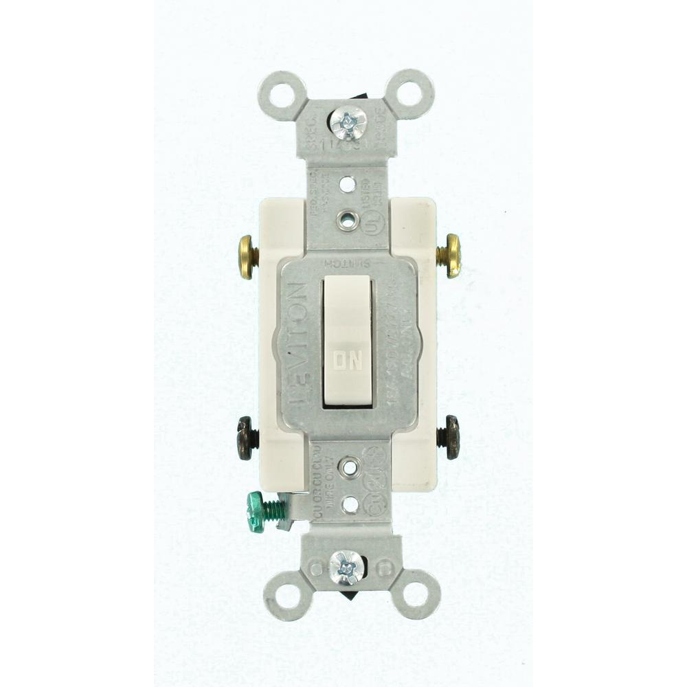 medium resolution of 15 amp commercial grade double pole toggle switch white