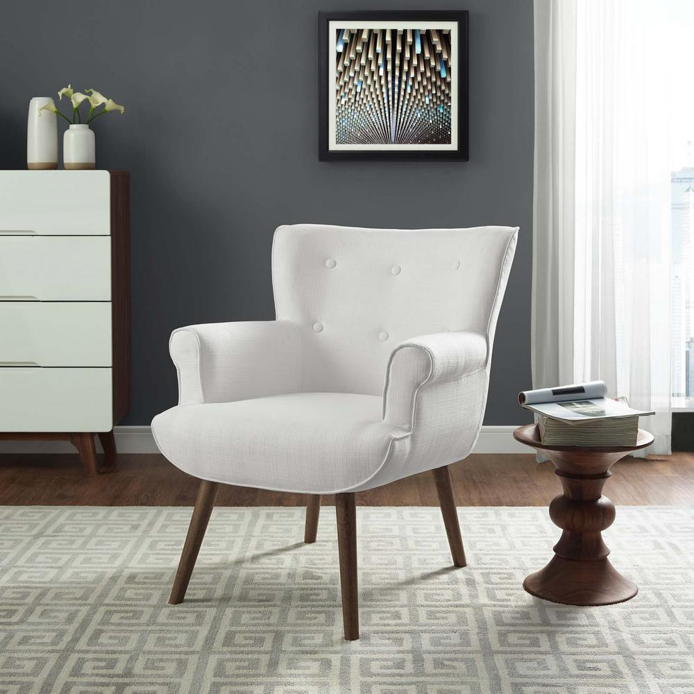 white upholstered chairs old dental chair for sale modway cloud armchair eei 2941 whi the home depot