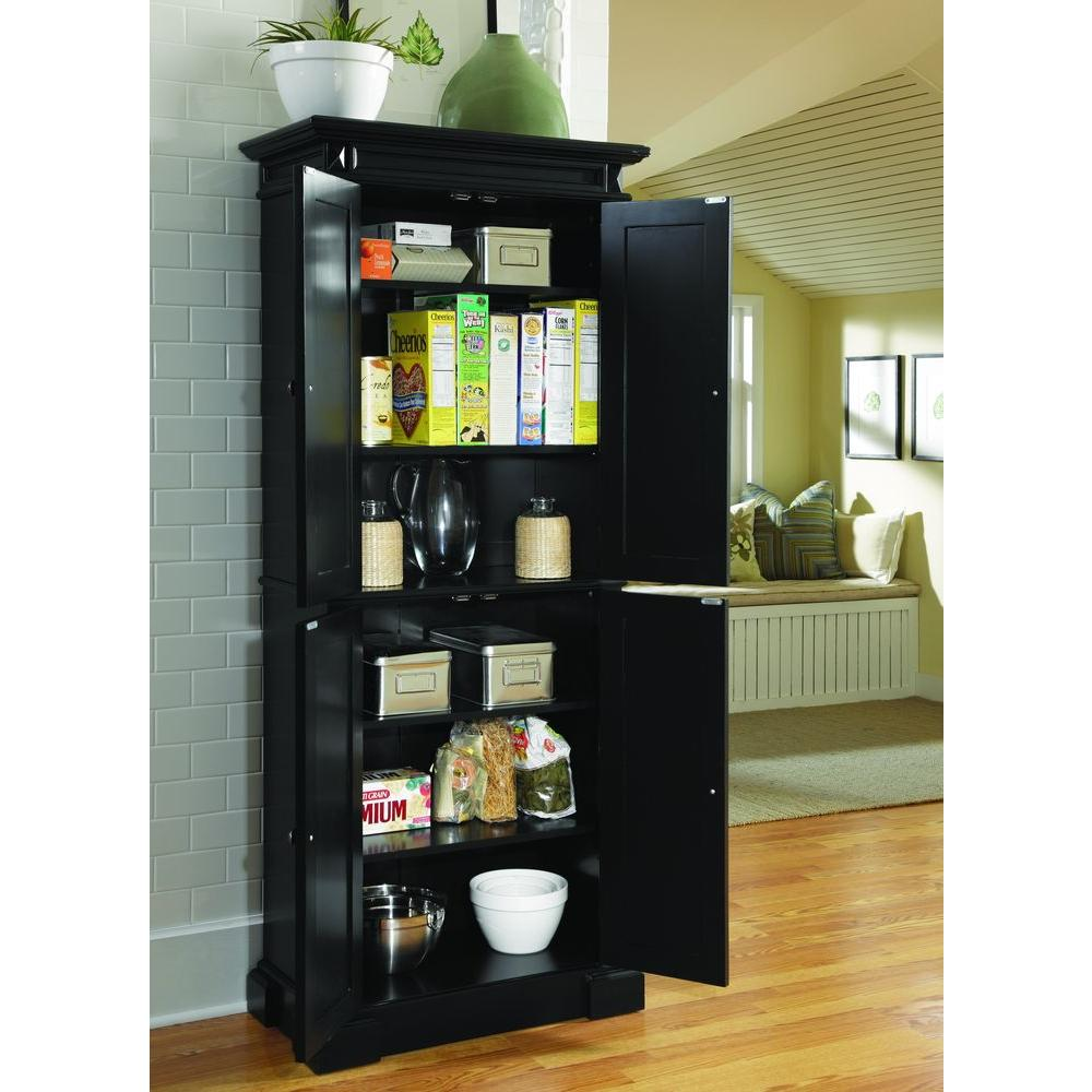 Home Styles Americana Black Food Pantry 5004 694 The Home Depot