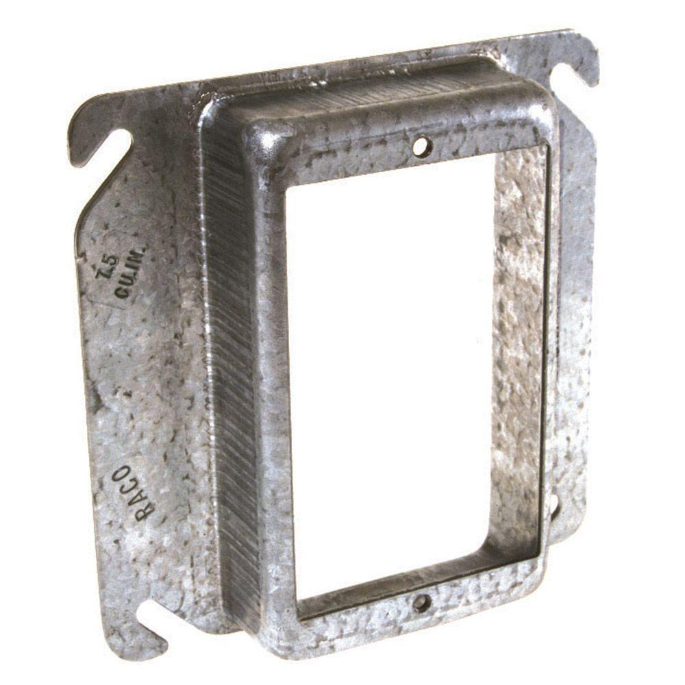 hight resolution of square 1 device mud ring with 1 2 in raised