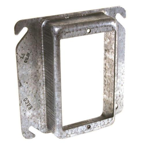 small resolution of square 1 device mud ring with 1 2 in raised