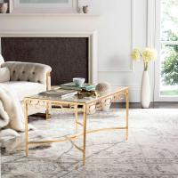 Acme Furniture Valora Frosted Glass and Champagne Coffee ...