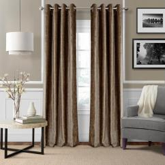Living Room Curtain Pics Pink Accent Chairs Curtains Drapes Window Treatments The Home Depot Blackout Victoria Bronze Grommet Panel 52 In