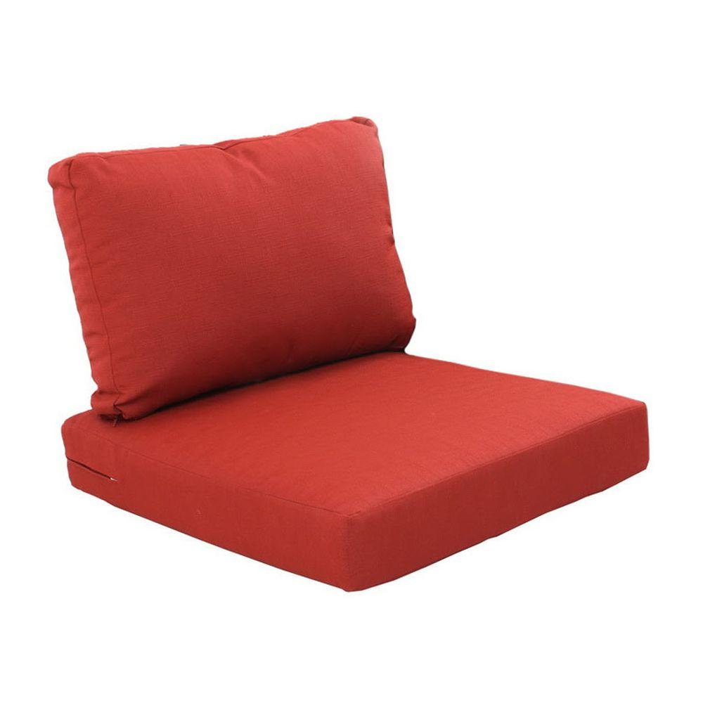 swivel chair cushions springs for hanging chairs hampton bay beverly cardinal replacement 2 piece outdoor sectional cushion set