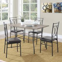 Metal and Wood Dining Table Set