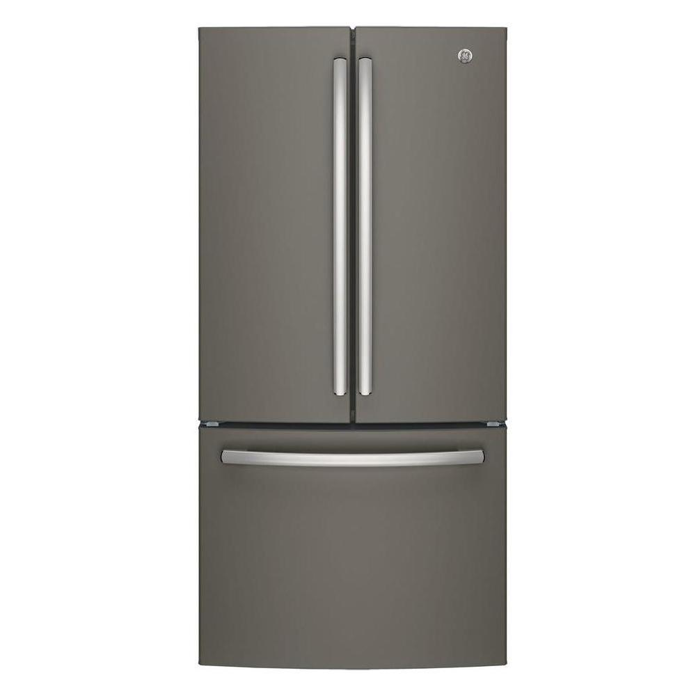 medium resolution of ge 33 in w 24 8 cu ft french door refrigerator in slate with