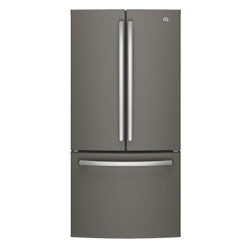 small resolution of ge 33 in w 24 8 cu ft french door refrigerator in slate with