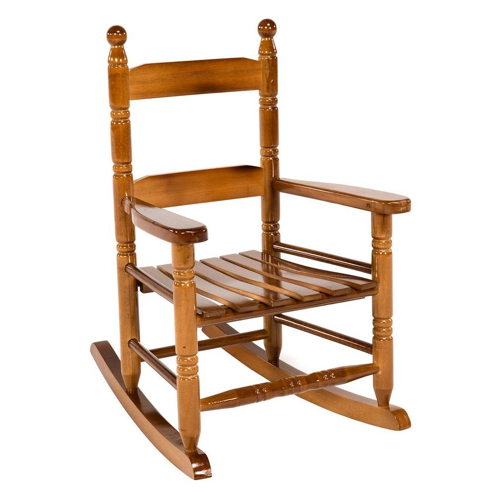 Child Wooden Rocking Chair Jack Post Oak Children S Patio Rocker