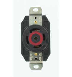 leviton 30 amp 277 480 volt 3 phase flush mounting grounding locking outlet  [ 1000 x 1000 Pixel ]