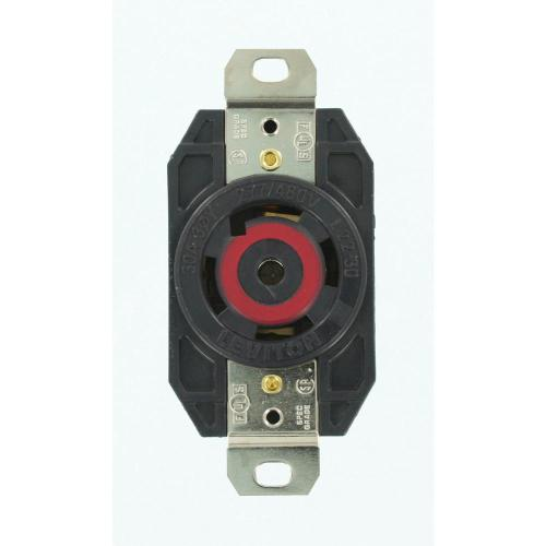 small resolution of leviton 30 amp 277 480 volt 3 phase flush mounting grounding locking outlet