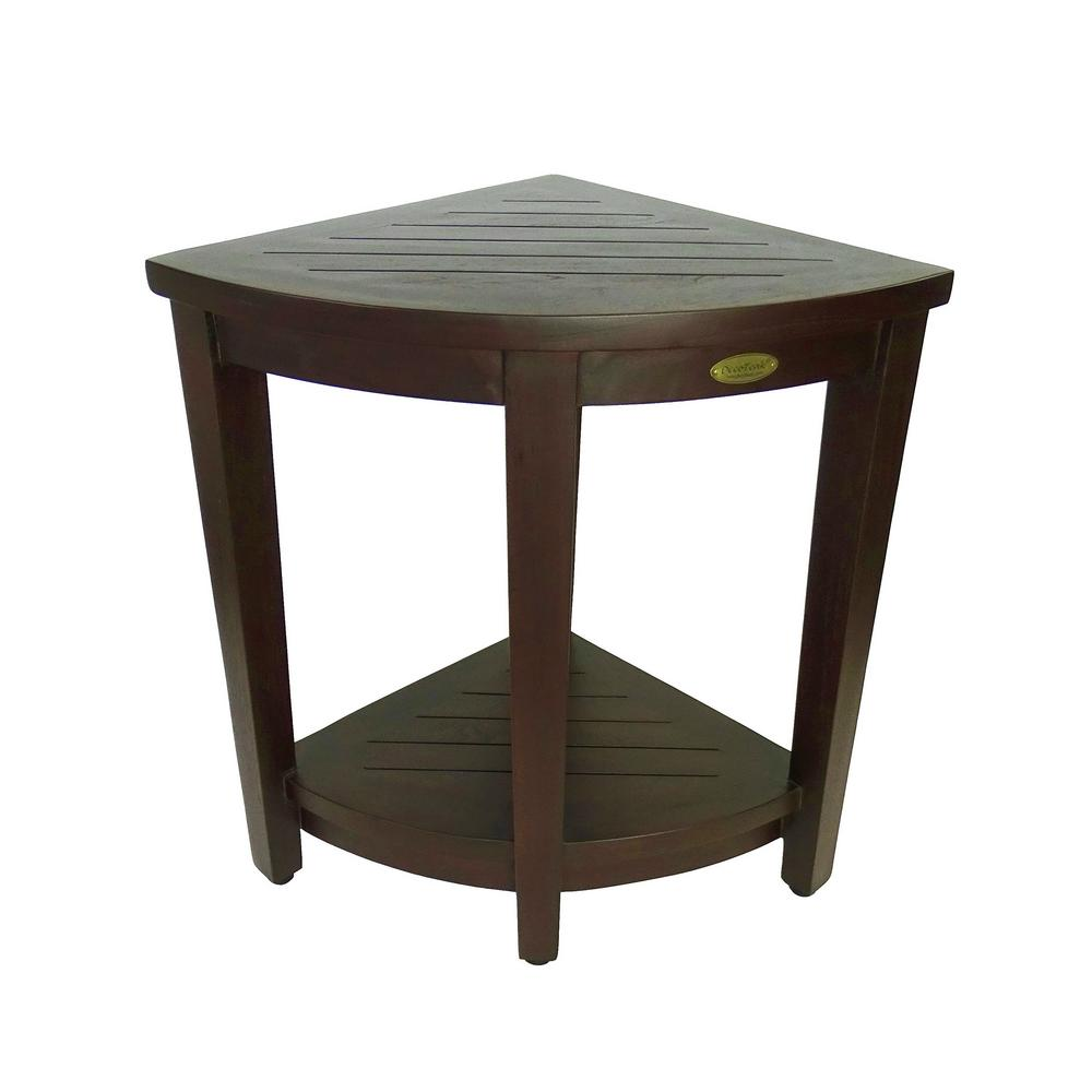 teak shower chairs with arms used leather decoteak classic 24 in extended height ergonomic stool liftaid and shelf