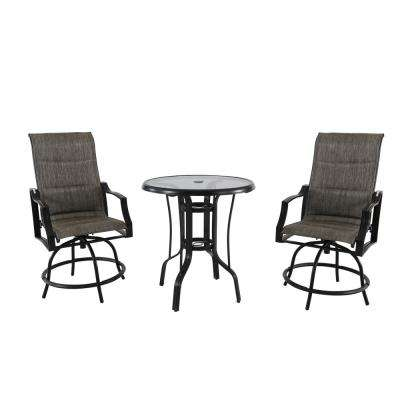 3 piece outdoor table and chairs hospital transport bistro sets patio dining furniture the home depot statesville steel set