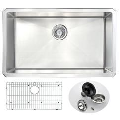 Ss Kitchen Sinks New Kitchens Anzzi Vanguard Series Undermount Stainless Steel 30 In 0 Hole Single Bowl Sink