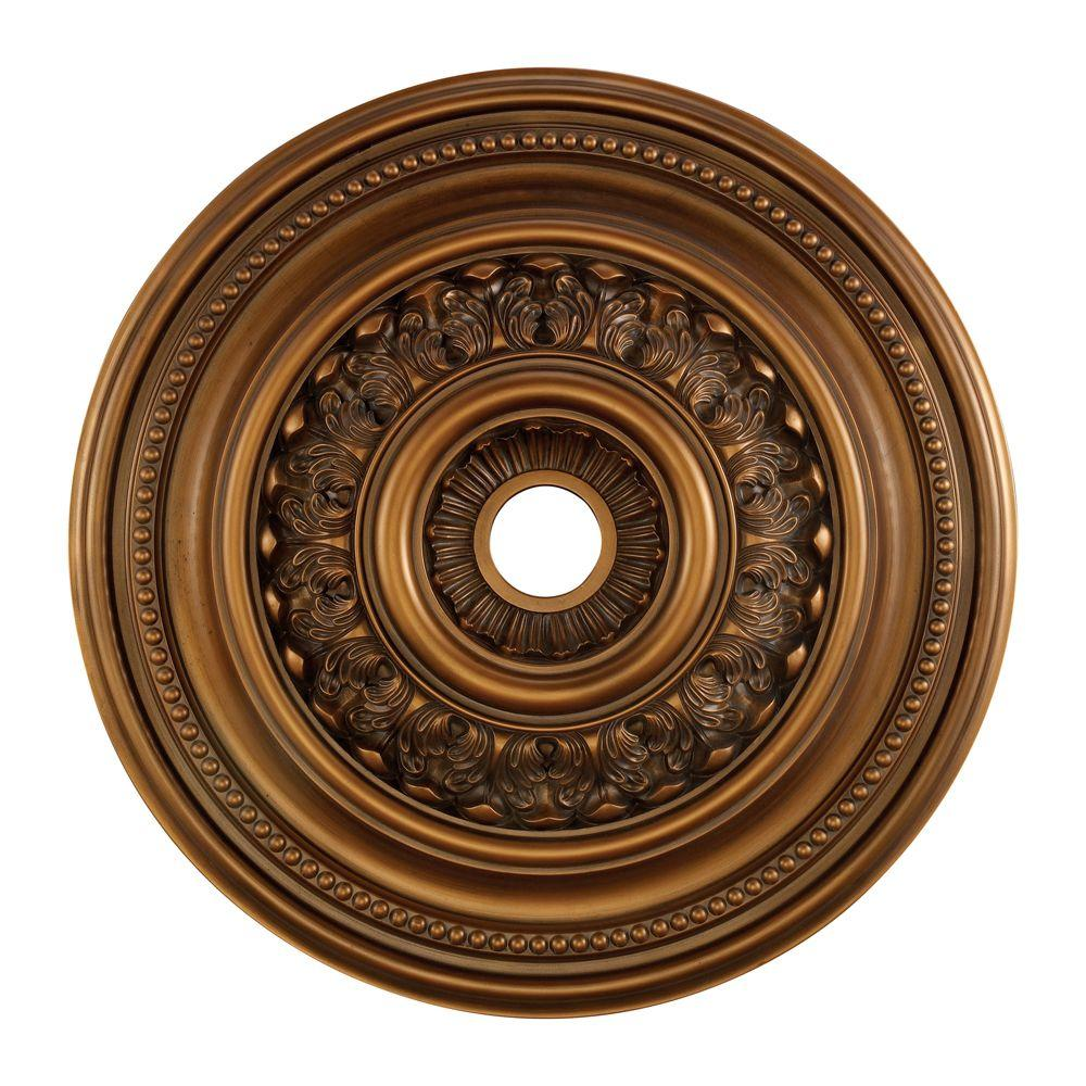 Titan Lighting English Study 32 in. Antique Bronze Ceiling