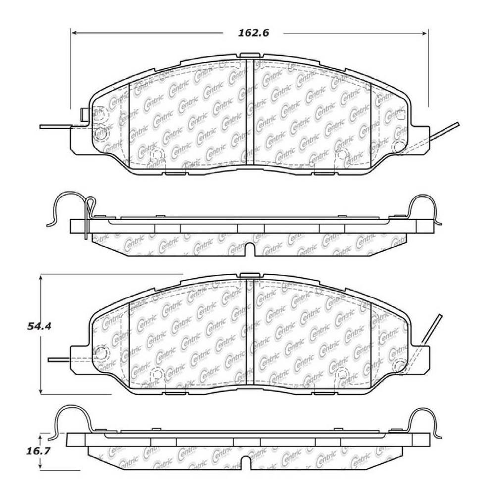 Centric Disc Brake Pad Set 2011-2014 Ford Mustang V6 V8