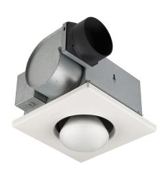 broan 70 cfm ceiling exhaust fan with 250 watt 1 bulb infrared heater [ 1000 x 1000 Pixel ]
