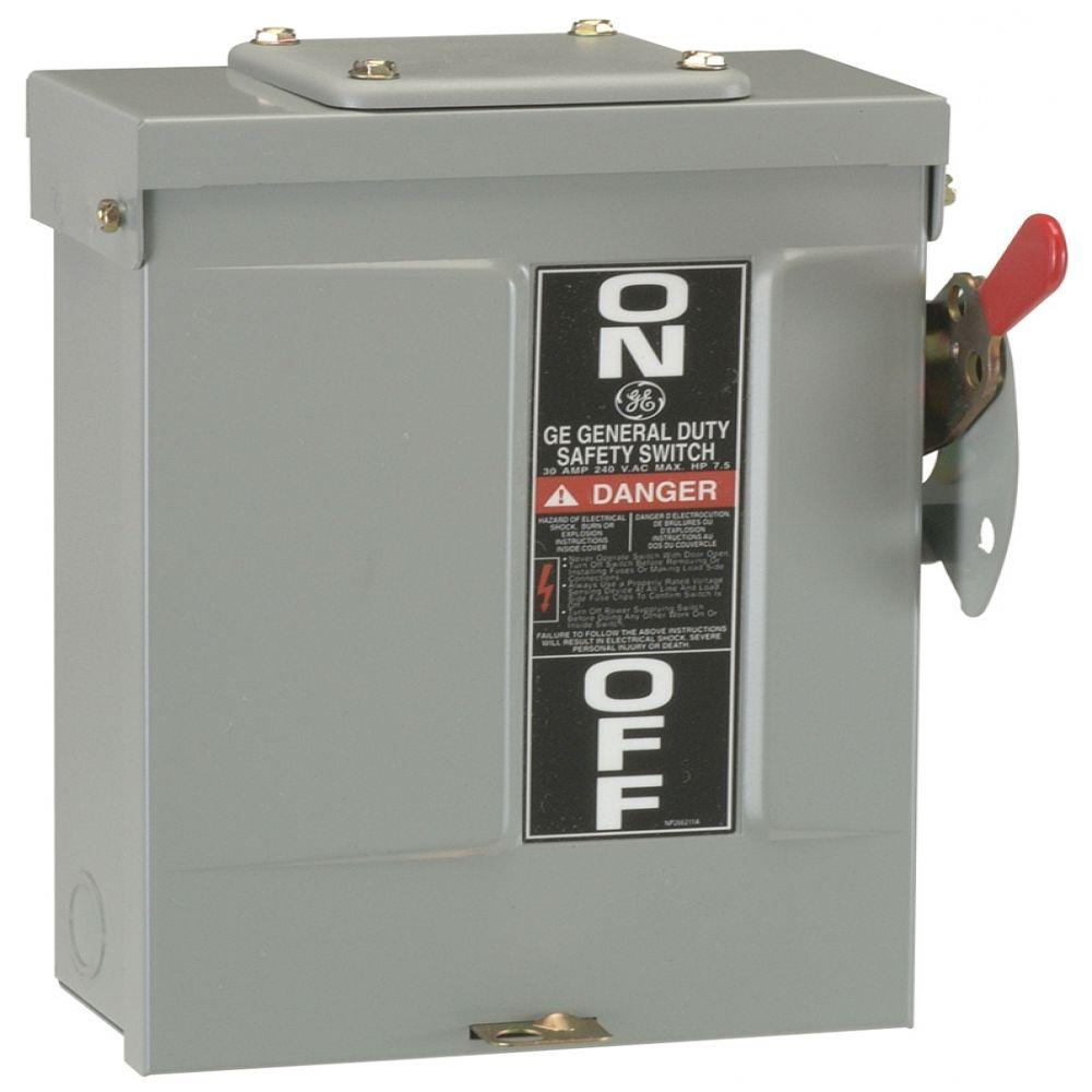 medium resolution of ge 60 amp 240 volt fusible outdoor general duty safety switch 2