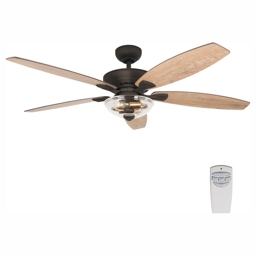 medium resolution of led seville bronze dual mount ceiling fan with light kit and remote control