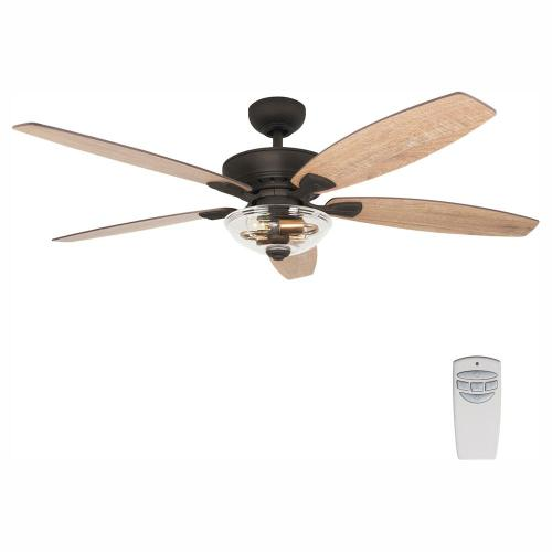 small resolution of led seville bronze dual mount ceiling fan with light kit and remote control