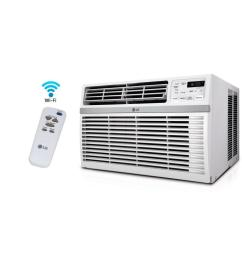 lg electronics 8 000 btu window smart wi fi air conditioner with remote  [ 1000 x 1000 Pixel ]