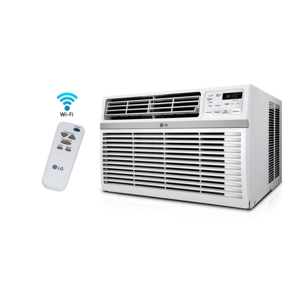hight resolution of lg electronics 8 000 btu window smart wi fi air conditioner with remote