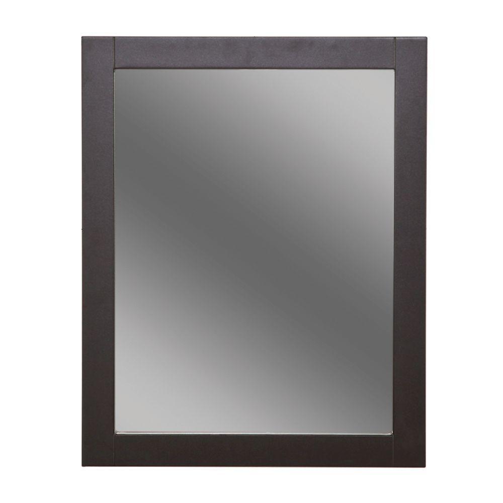 Glacier Bay Del Mar 24 in x 30 in Framed Wall Mirror in