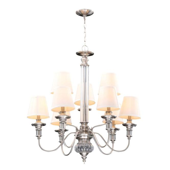 Hampton Bay Gala 9 Light Polished Nickel Chandelier 14694 The Home Depot