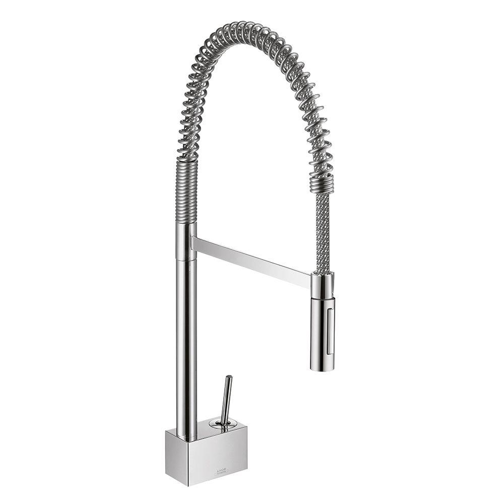 professional kitchen faucet cheap cabinet hansgrohe axor starck semi pro single handle pull down sprayer in chrome