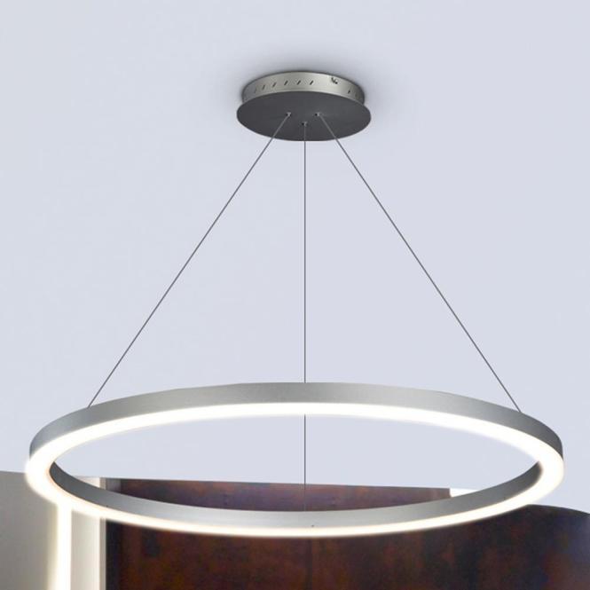 Vonn Lighting Tania Collection 36 Watt Silver Integrated Led Adjule Hanging Modern Circular Chandelier 24